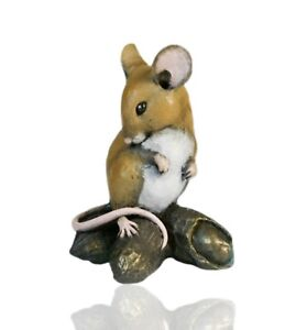 Michael Simpson. Mice Cold Cast Bronze Mouse On Strawberry Hand Painted