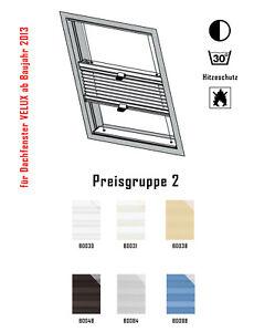 Dachfenster plissee f velux ggl gpl ghl gel gtl gdl gxl for Velux su misura