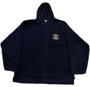 Mens-Large-Vintage-Syracuse-Orangemen-Blue-Fleece-Hooded-Full-Zip