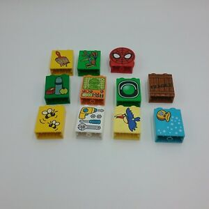 Lego-Duplo-Lot-Numbers-Letters-Spiderman-Winnie-The-Pooh-Mickey-Mouse-Eyes-Mixed