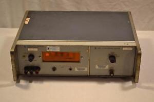 HP Hewlett Packard 3440A Nixie Tube Voltmeter w 2442 Range Selector