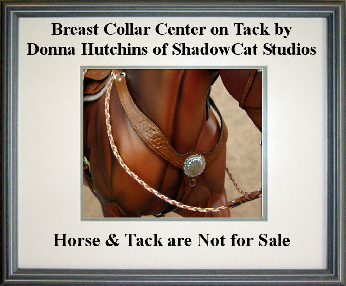 Breast Collar Centers SILVER-TONED Traditional 1:9 Scale Model Horse Conchos