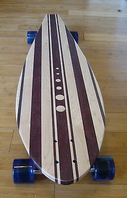Longboard made of Solid Wood - Pebble 40x10 with purpleheart wood