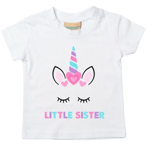 Unicorn Little Sister Toddler T-Shirt 12-18 Months CLEARANCE 020