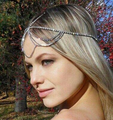 Neu Haarstecker Kette Haarband Haarkette Haarschmuck Haarreifen Kopfschmuck Clip