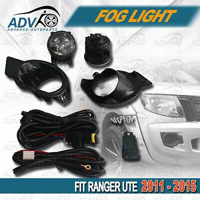 """*NEW* FOG LIGHT KIT SPOT LAMP SET for FORD RANGER PX 2011-2015 /""""CHROME/"""" COVERS"""