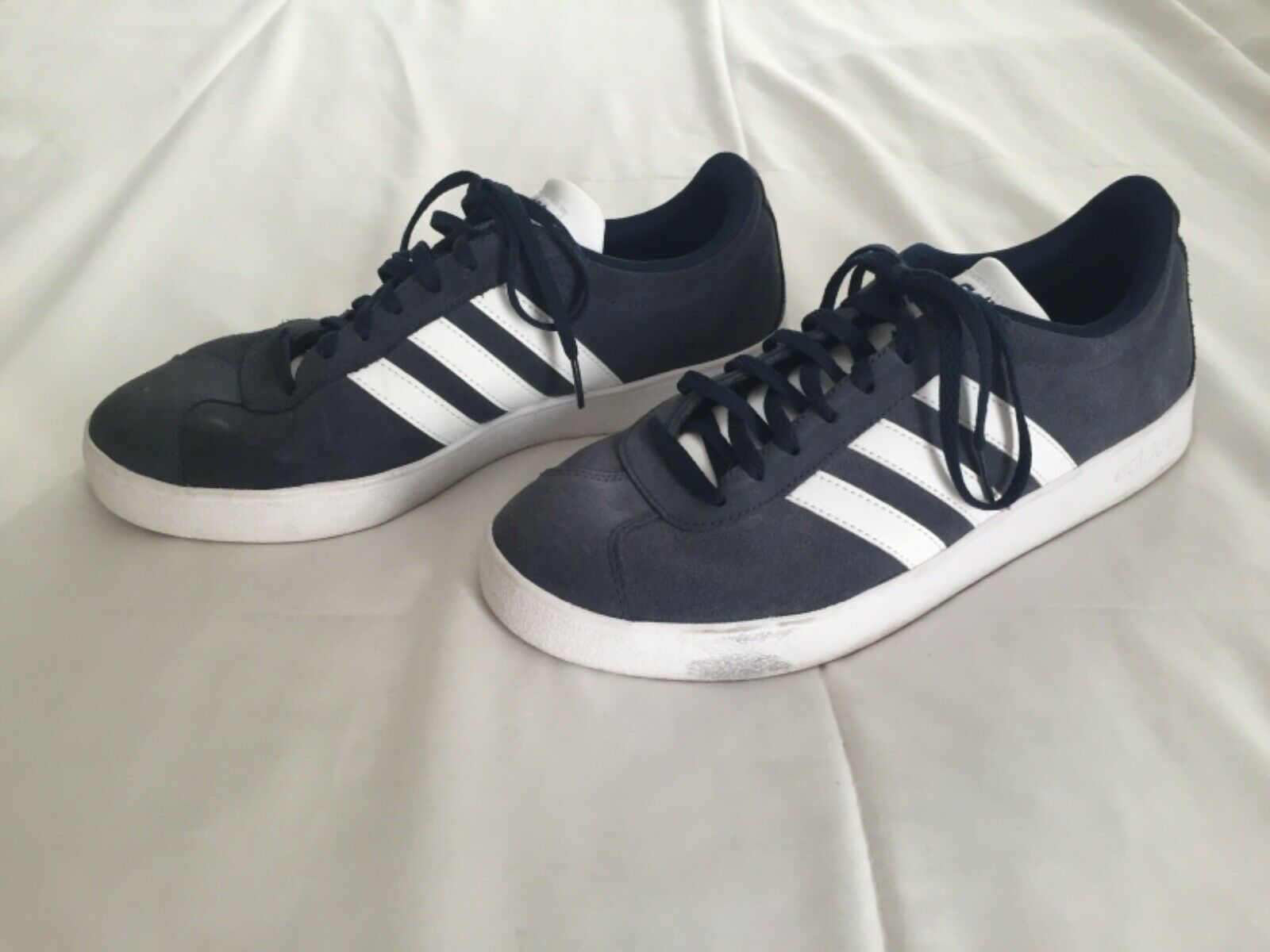 adidas Mens VL Court 2.0 Navy Lace up