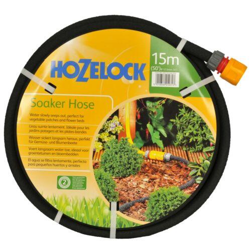 riego Verduras Jardín De Flores camas y fronteras Hozelock Manguera de remojo 15m porosa