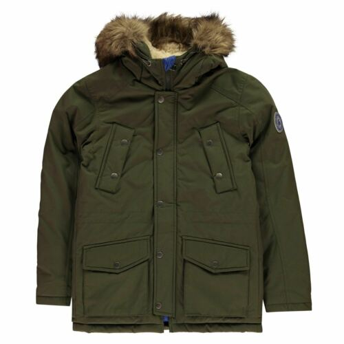 Jack and Jones And Explore Parka Jacket Boys Coat Top Full Length Sleeve Hooded