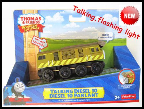 Thomas the Tank Engine en bois train Talking /& Clignotant Diesel 10 New in Box
