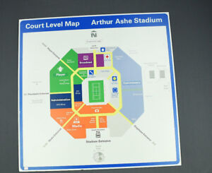 Us Open Arthur Ashe Stadium Court Level Map Tennis Stadium - Us-open-tennis-location-map