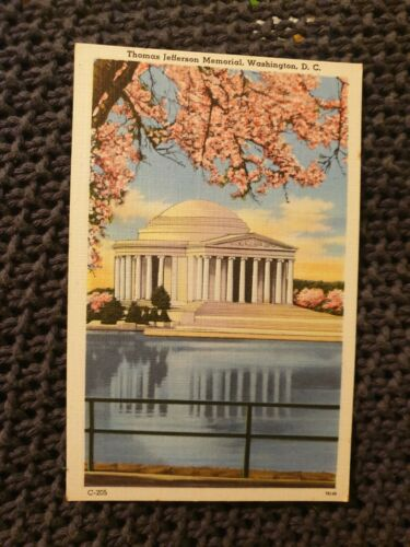 Thomas Jefferson Memorial, Washington DC Vintage Postcard