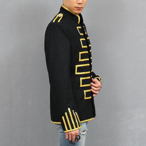la en à noire noire à tissu pour Veste et les main militaire crochet orban hommes S0dpCxqW
