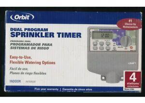 Orbit 27954 4-Station Dual-Program Indoor Irrigation Timer NEW