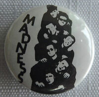 """MADNESS Old Vtg 1980`s  Button Pin Badge(25mm-1"""")Ska 2 Tone  #NB502"""