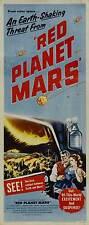 RED PLANET MARS Movie POSTER 20x40 Peter Graves Andrea King Herbert Berghof