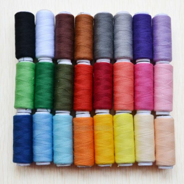 24 different Colours 200 Yard Polyester Embroidery Sewing Machine Threads New