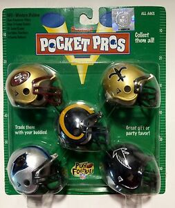 Riddell-NFL-POCKET-PRO-Mini-Football-Helmets-1997-NFC-West-Division-Set-scarce