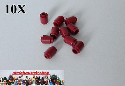 25X Lego® 3062 Basic runde Steine Round Bricks 1X1 Rot Red