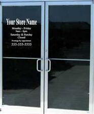 Custom Business Store Hours Sign Vinyl Decal Sticker 17 X 15 Window Door Glass
