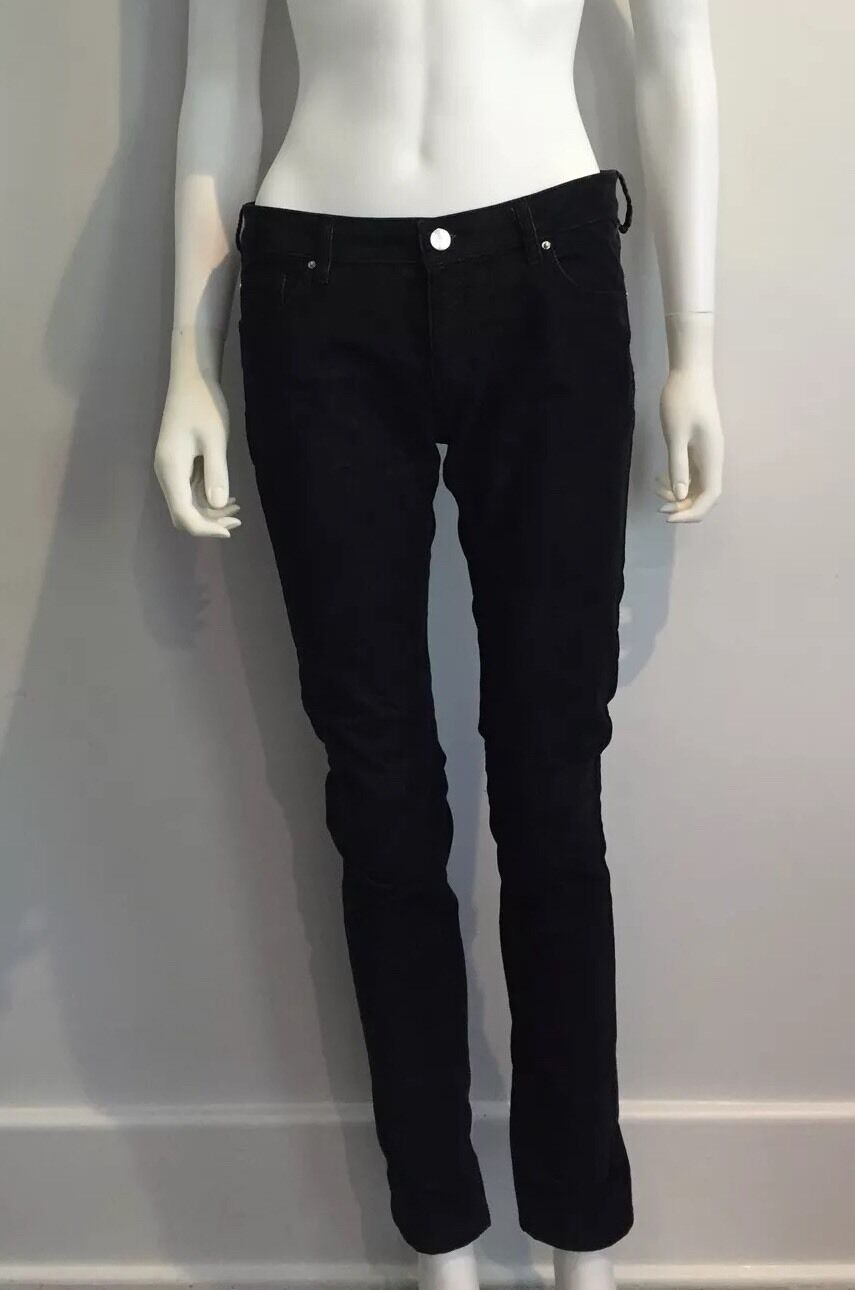IRO I-RO Midnight bluee Navy Corduroy  Stanford  Straight Skinny Jeans Pants 28