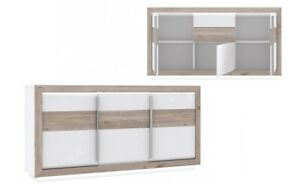 Kommode Sideboard Canne Weiss Hochglanz Led Beleuchtung Ebay