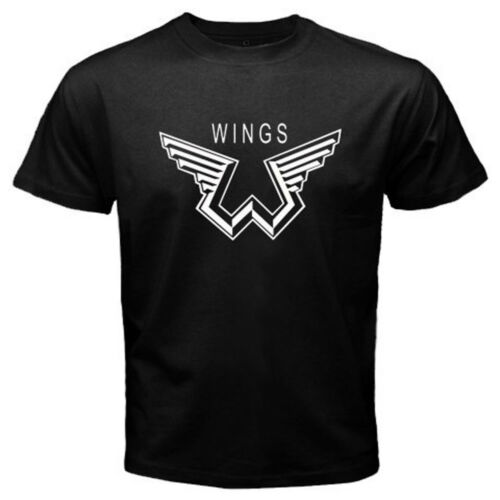 New Paul McCartney Wings Logo Music Legend Men/'s Black T-Shirt Size S to 3XL