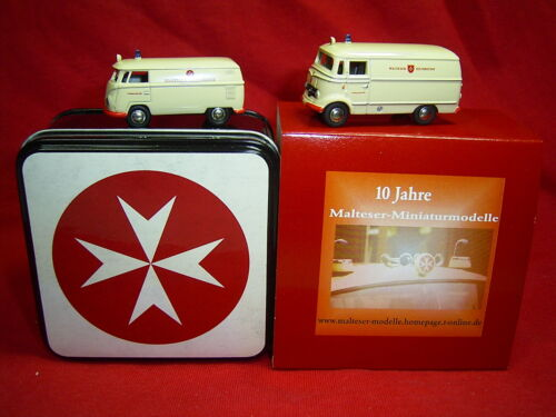 Set Malteser in Blechdose Deckel mit Malteser Kreuz HAMMERPREIS