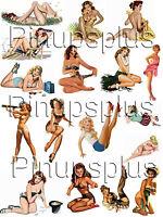 Pinup Girl Waterslide Guitar Decals Vintage Wwii 24 By Pinupsplus