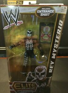 RARE-Mattel-WWE-Elite-Collection-Series-24-Rey-Mysterio-includes-Entrance-Shirt