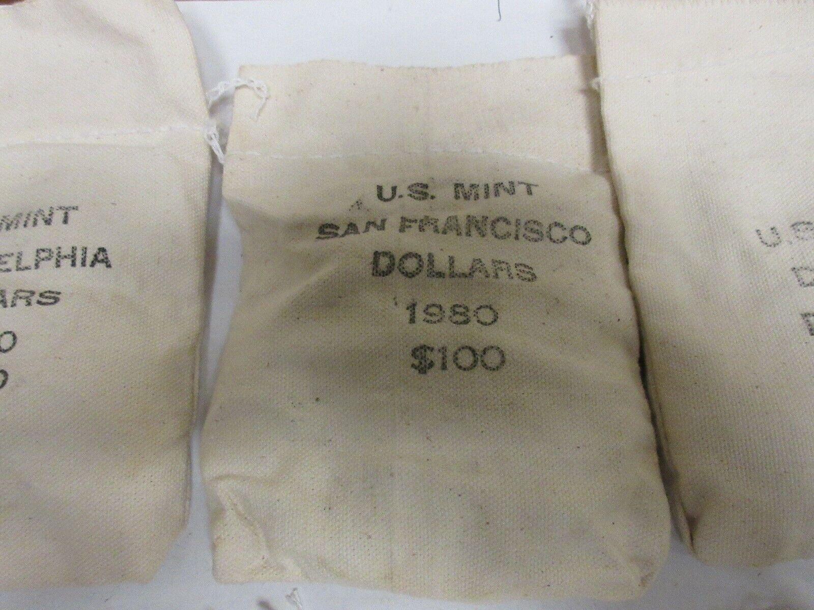 1980 P, D, & S , $100 Sealed Mint Bags , Susan B. Antho