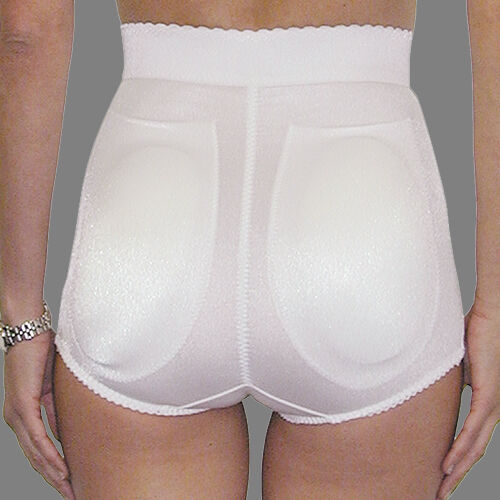 Rago Foundations High Waist Padded Rear White Shape Brief Size 32XL