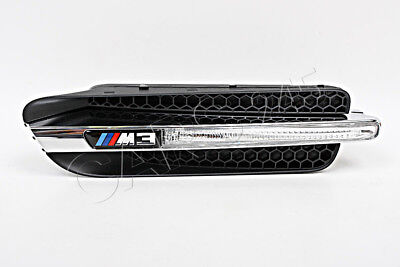 Original Ziergitter Grill Kotflügel Emblem 2x BMW M3 E90 Limousine 2007-2011