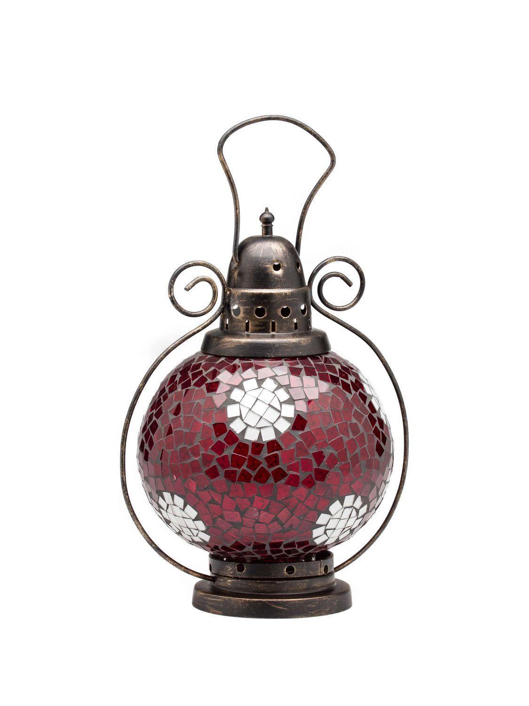 Viento luz farol lámpara lamparillas Jardín Terraza Casa de Cristal Rojo Weiss 31cm