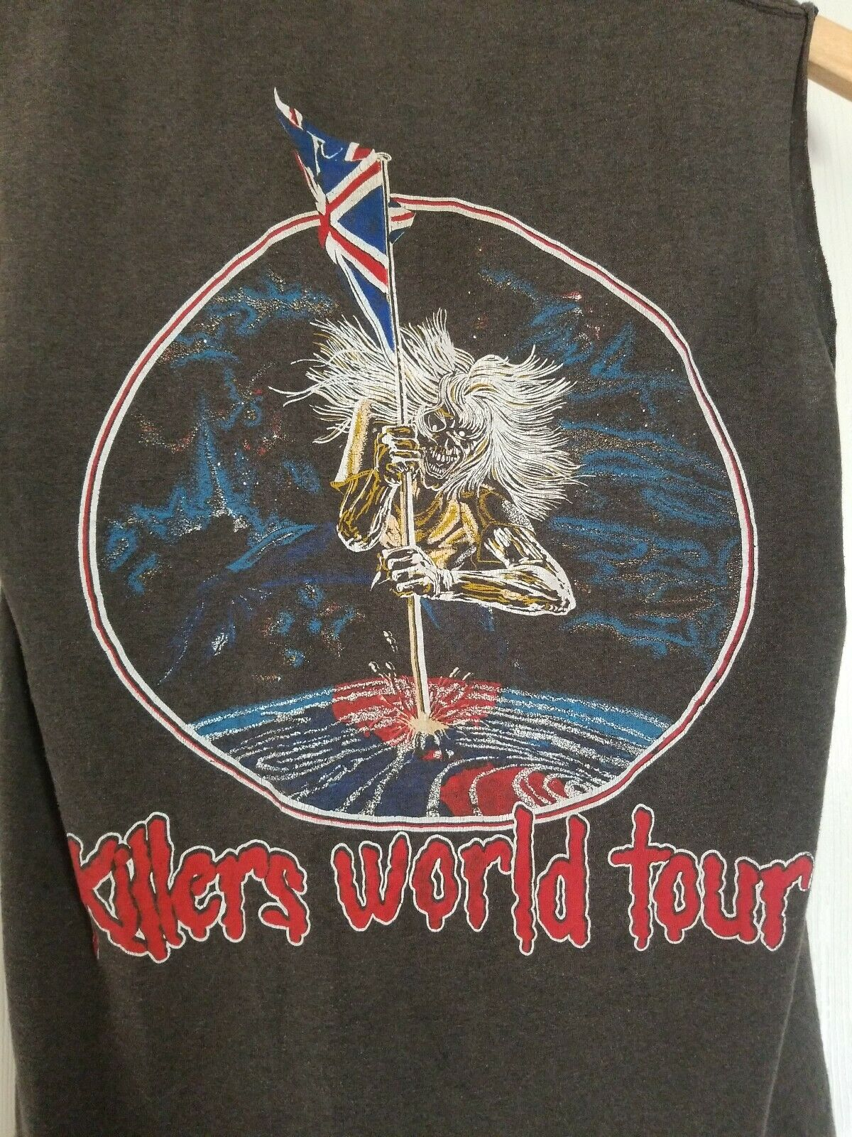 Vintage 80s Iron Maiden Small T-shirt Killers Wor… - image 7