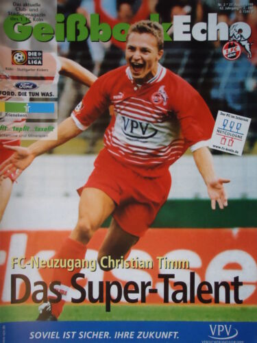 Programm 2 Bundesliga 1999//00 1 FC Köln Stuttgarter Kickers