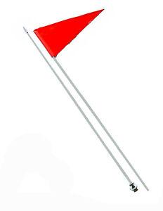 "Checkered Flag BLACK 1//2/""x 6/' Fiberglass Whip Poles 2 2 Quick Release 2"