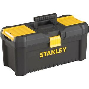 """Stanley Storage Tools Lockable 12.5"""" Tool Box Side Tray Organiser With Handle"""
