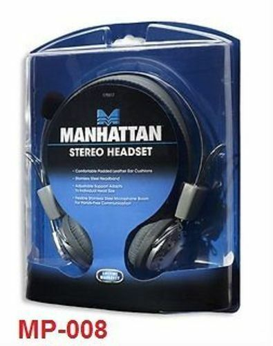 Stereo Headset w// Flexible Metal Boom Microphone 175517