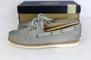 b44bcfb48b Sperry GOLD CUP A O Light Grey Leather Women s Boat Shoe NEW NIB 6 ...