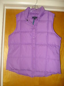 65655cdb NWT New Women's Lands' End Size Large 14-16 Purple Puffy Down Filled ...