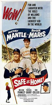 PRINT IMAGE PHOTO PW0 SAFE AT HOME MOVIE POSTER MICKEY MANTLE RARE VINTAGE