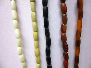 Buffalo-Bone-Horn-Hairpipe-Beads-All-sizes-Red-Yellow-White-Black-Antique