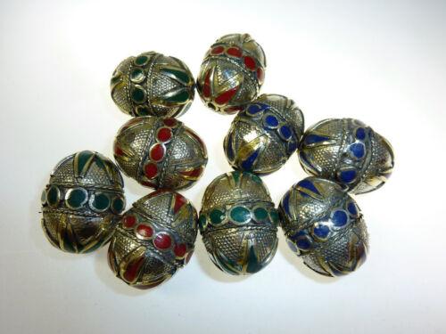 ethnoperlen afgano metal perlas Tribal perlas set de 3 perlas