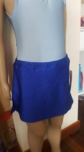 Sporting Goods Makamy Girl's Figure Ice Skating Full Skirt Royal Blue Spandex Sz8 Bnwt 38 Durable Modeling Winter Sports