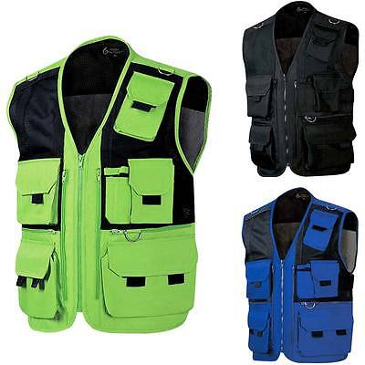 New Multi Pockets Fly Fishing Hunting Mesh Vest Travel Outdoor Jacket Top Mens