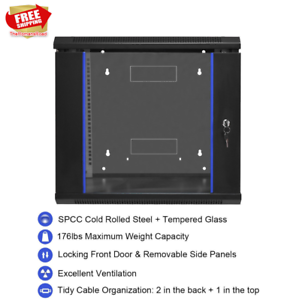 Wall Mount Armored Glass Data Network Security Cabinet ...