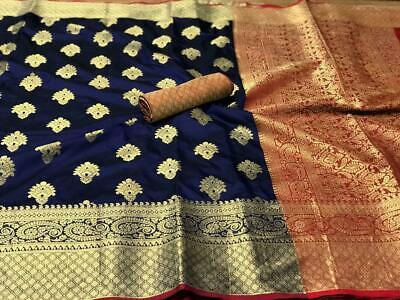 Banarasi silk saree with rich pallu n attractive border blouse running