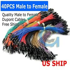 A3 40pcs 20cm Male To Female Dupont Wire Jumper Cable For Arduino Breadboard