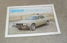 * Datsun Nissan Skyline 240K Coupe Brochure 1979 *